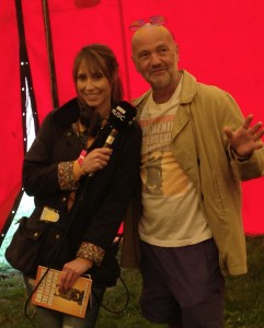 Alex Jones from the Chris Evans Breakfast Show with Joe Hoare at Glastonbury 2014